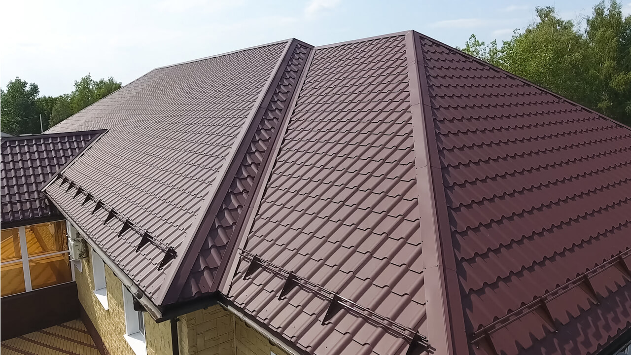metal roof installation on home
